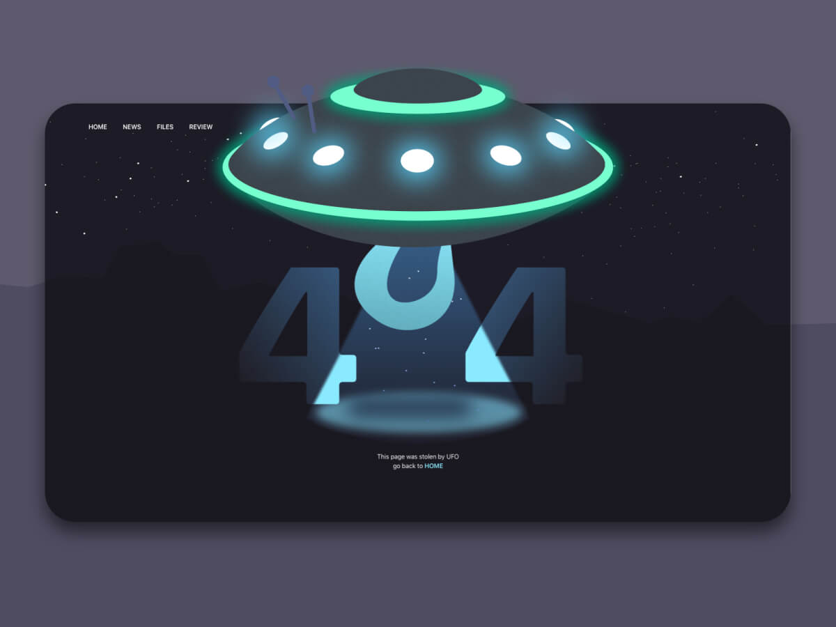 404 Page Template for Sketch