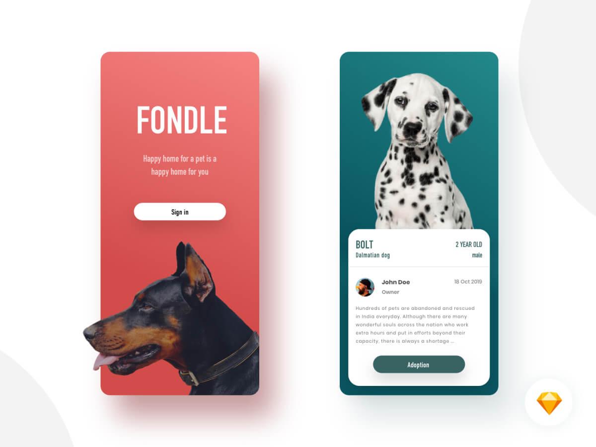 Adopt a Pet App for Sketch
