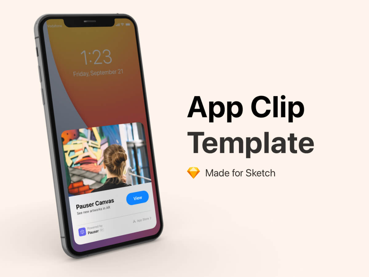 App Clip iOS Template for Sketch