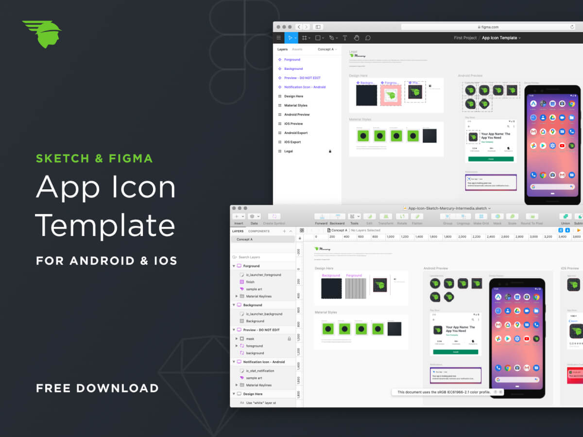 Android & iOS App Icon Template