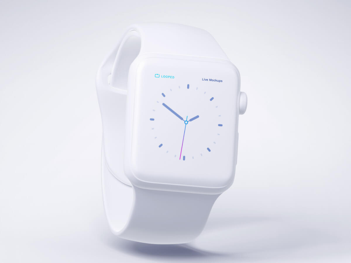 Apple Watch White Clay Sketch Mockup