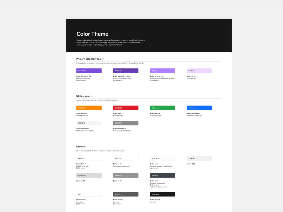 Color System for Design Systems