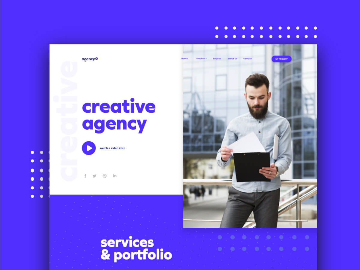 Creative Agency Homepage for Sketch