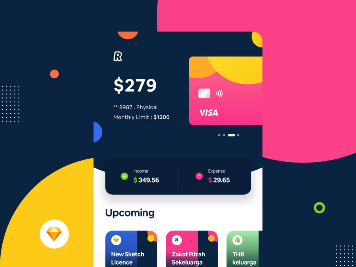 Digital Banking App Sketch UI Kit