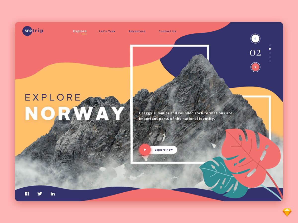 Explore Norway Sketch UI Kit