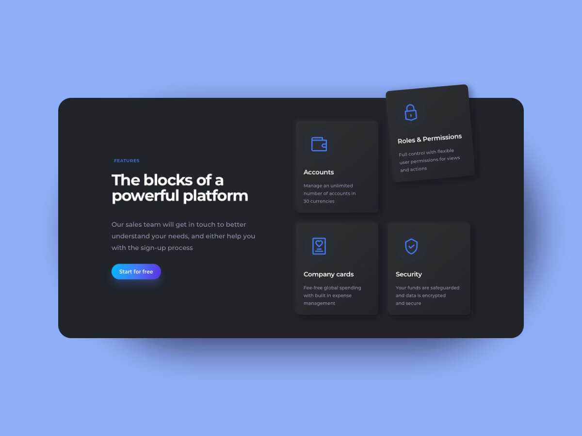Features Sections Web Sketch UI Kit