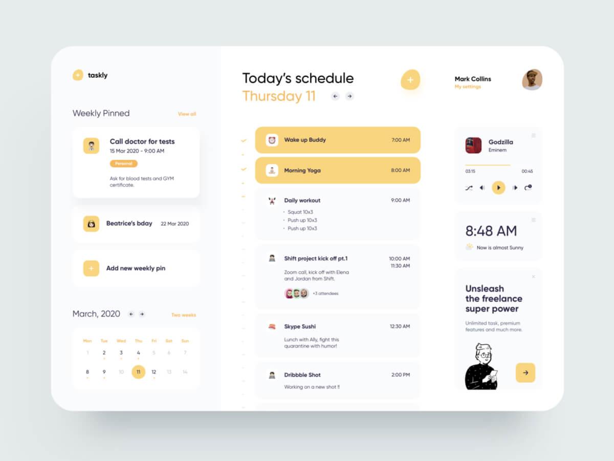 Freelancer Schedule Web for Sketch