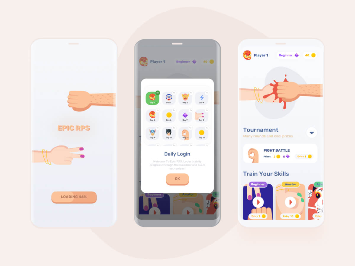 Epic Mobile Game Sketch UI Kit