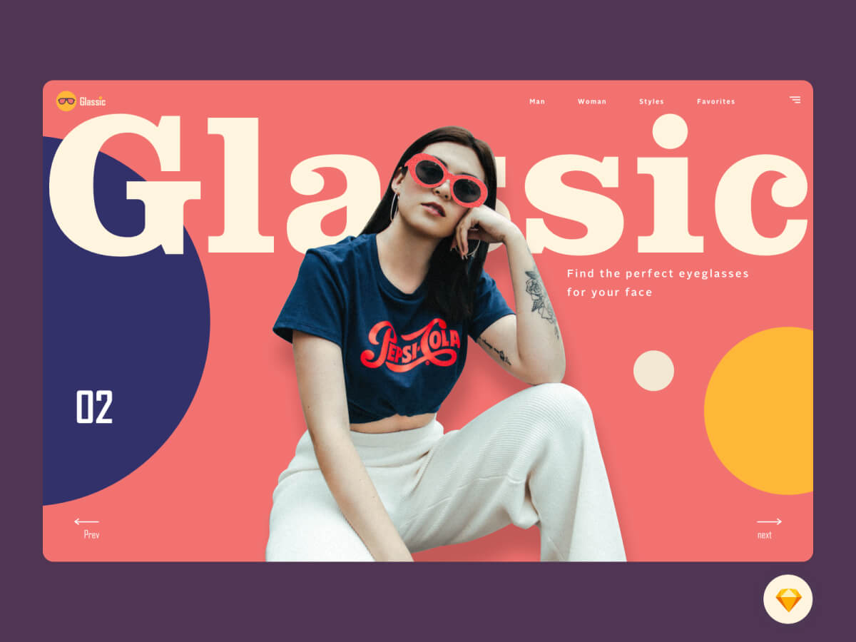 Glassic Landing Page