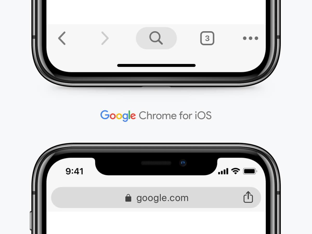 Sketch Google Chrome UI for iOS