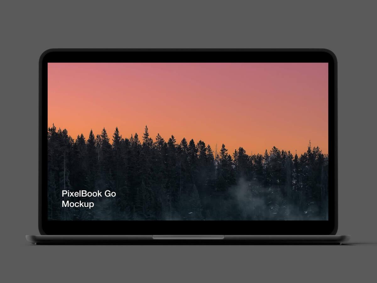Google PixelBook Go Sketch Mockup
