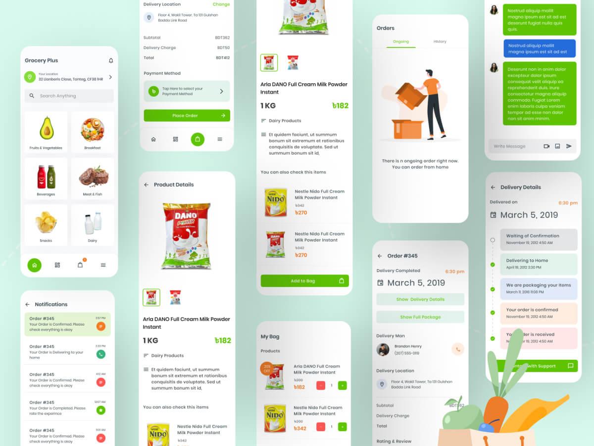 Grocery Sketch App