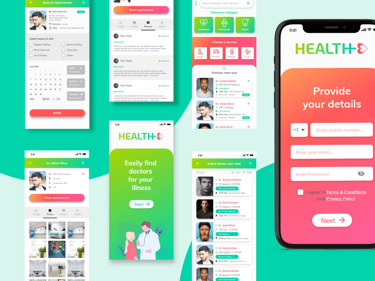 Doctors Appointment App UI Kit