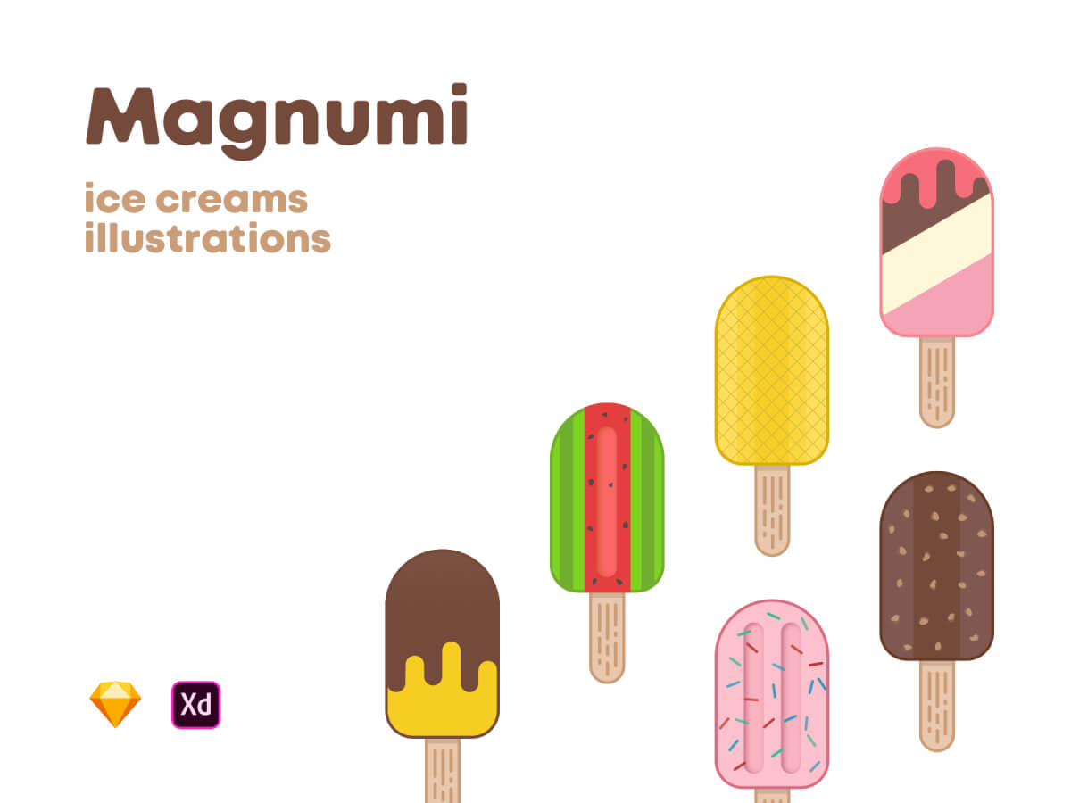 Ice Creams Illustrations for Sketch