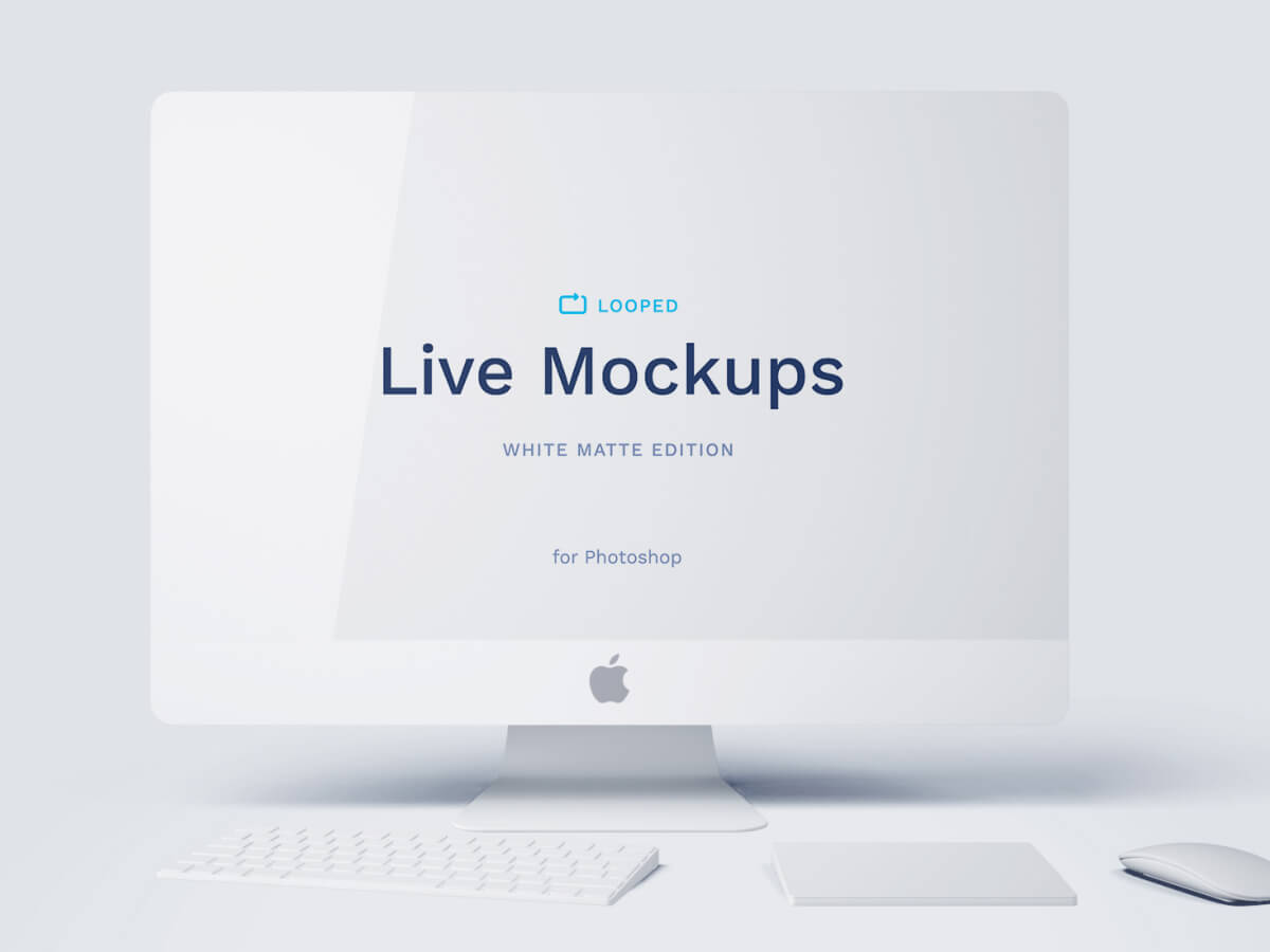 iMac Clay Sketch Mockup