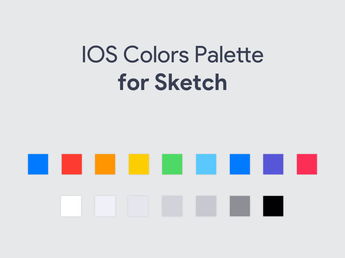 iOS Colors Palette for Sketch