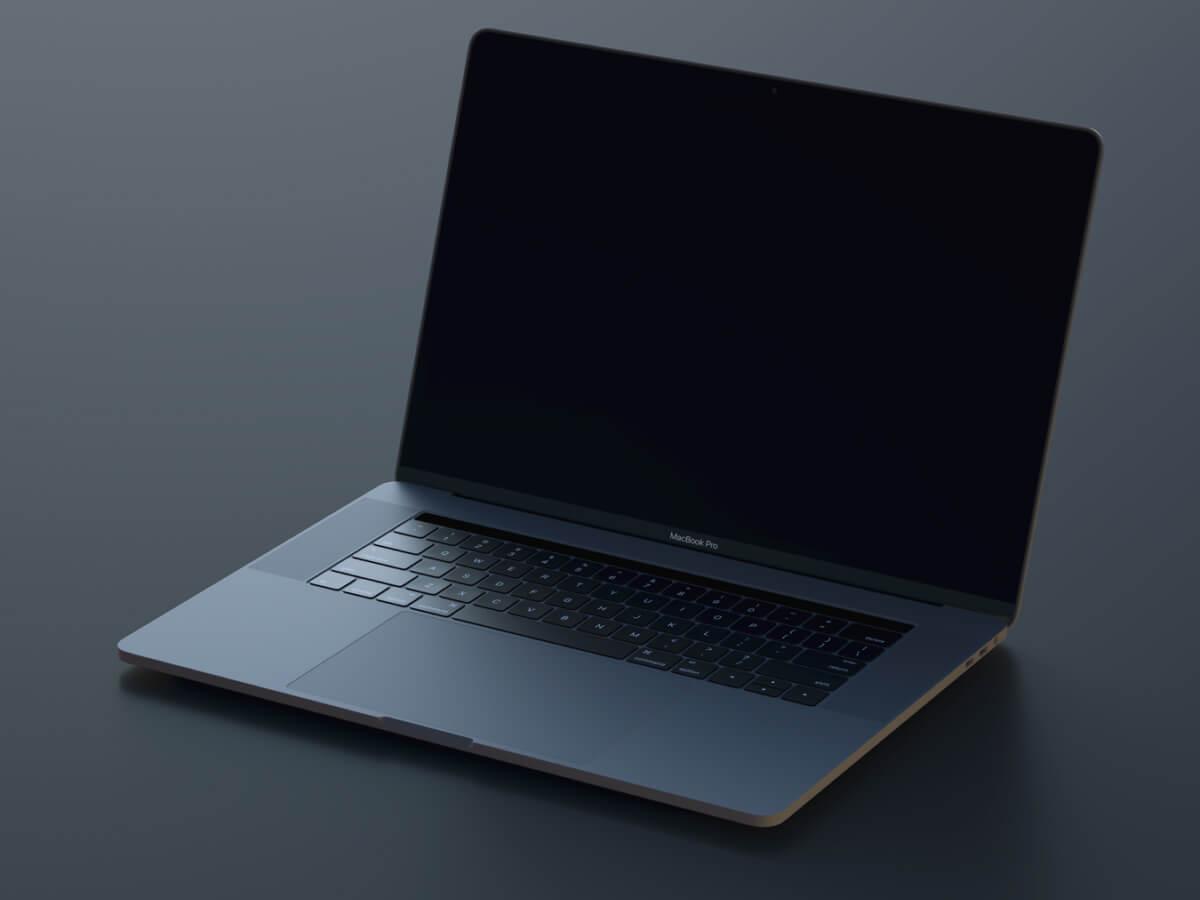 Macbook Pro Realistic Sketch Mockup