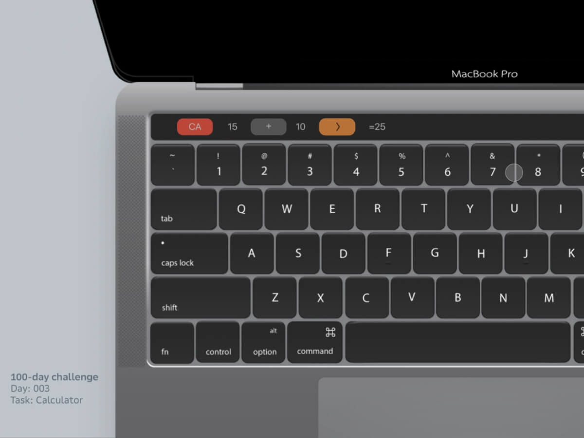 Macbook Pro Touch Bar Calculator