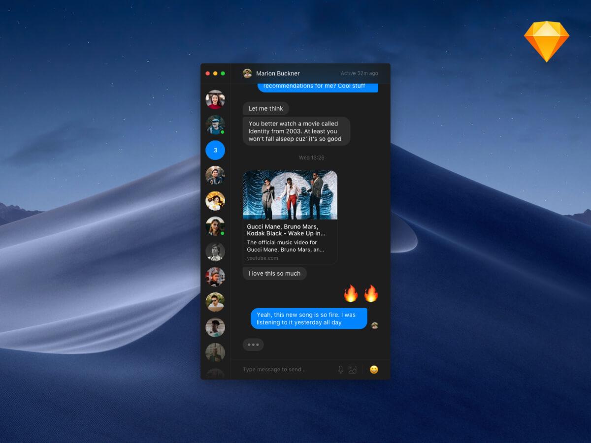 Minimalist Messenger Dark App