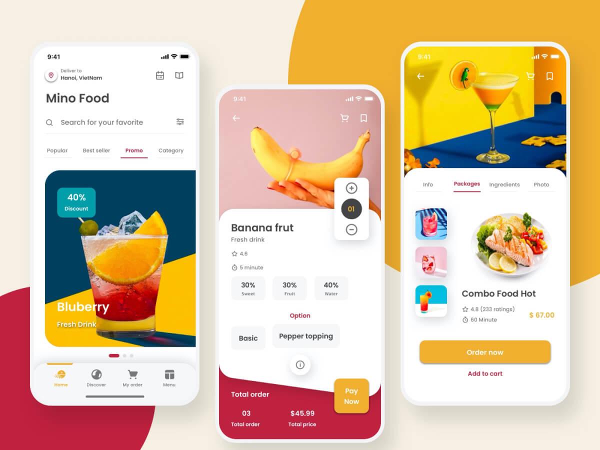 Food Mobile App Sketch UI Kit