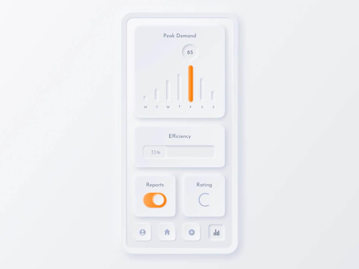 Neumorphic Training Interface