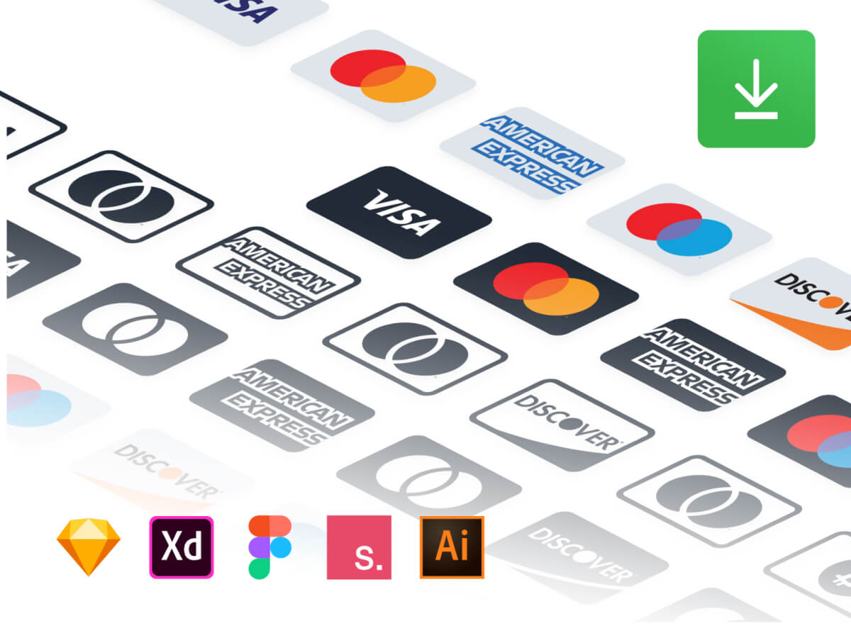 Payment Methods Logos for Sketch