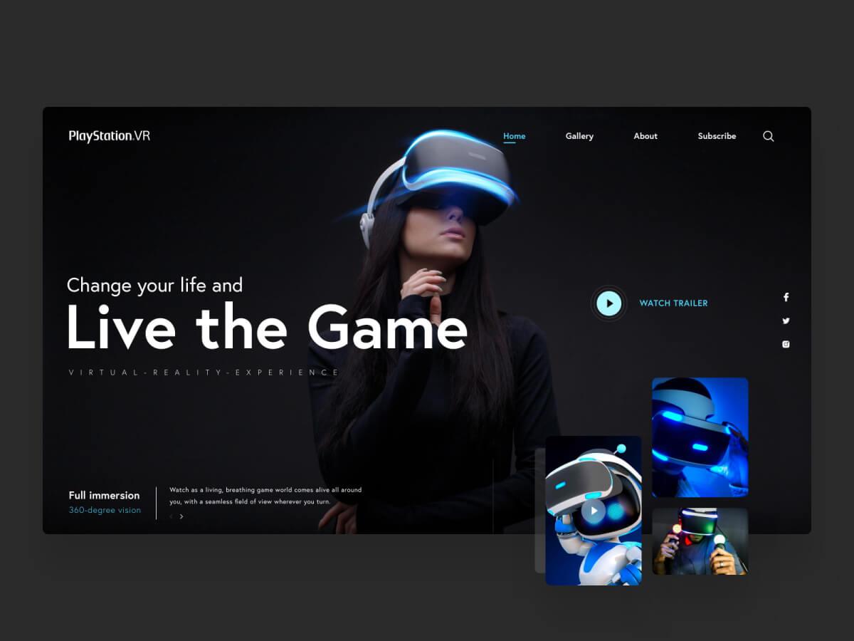 PlayStation VR Website Concept for Sketch