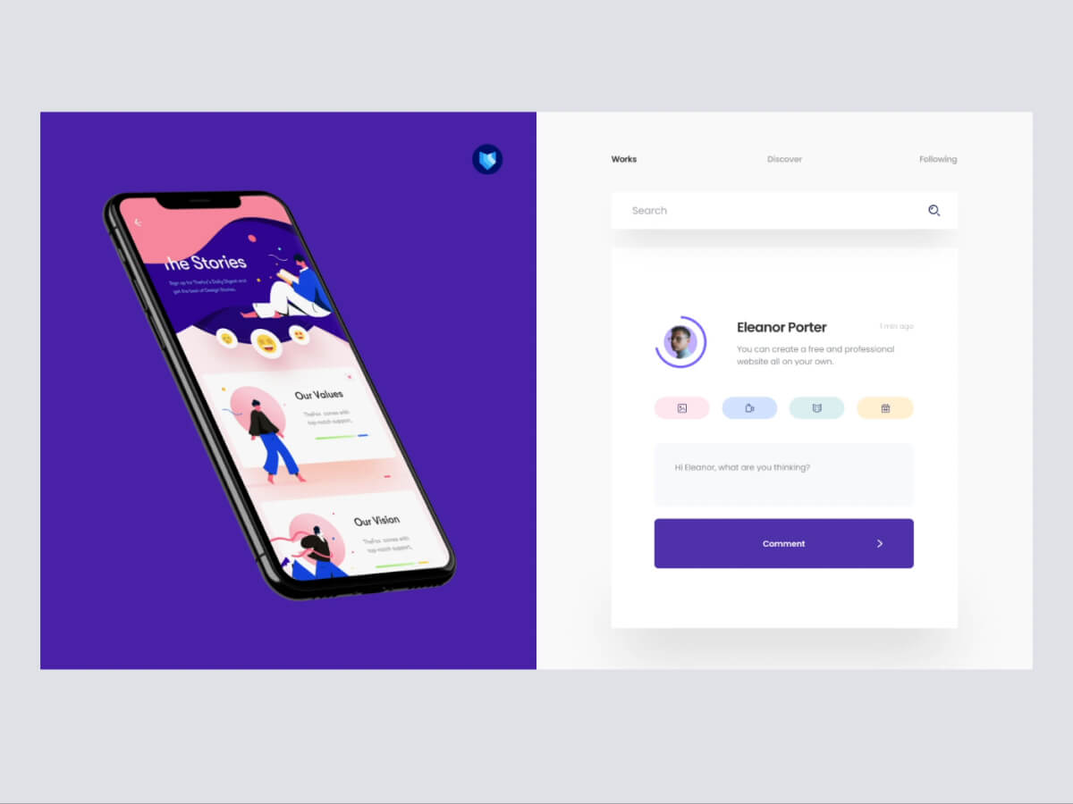 Projects & Comment Form for Sketch