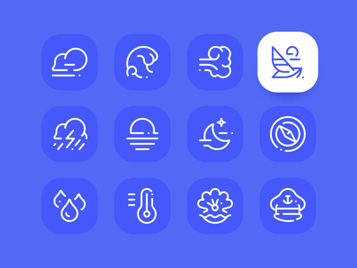Sea Icons Set for Sketch
