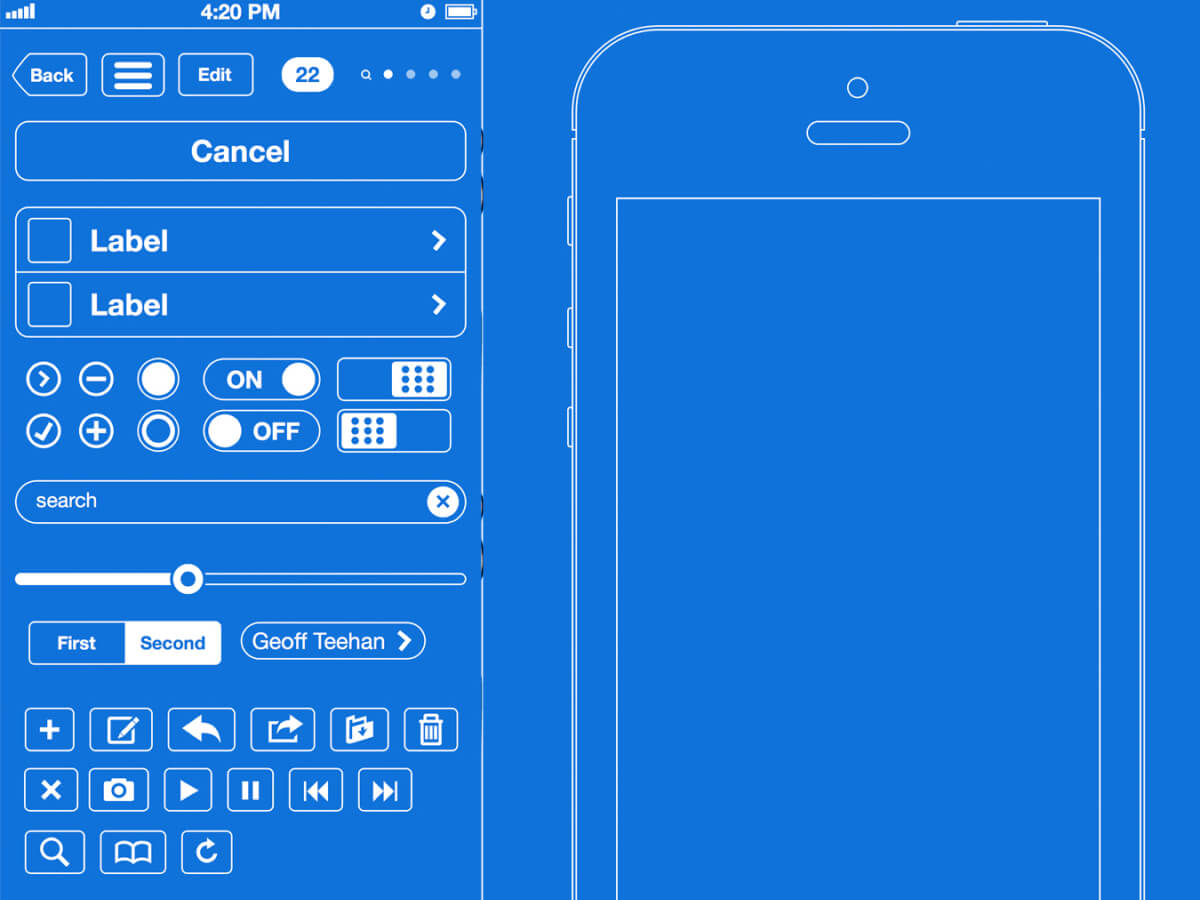 Simple Wireframe Kit for Sketch