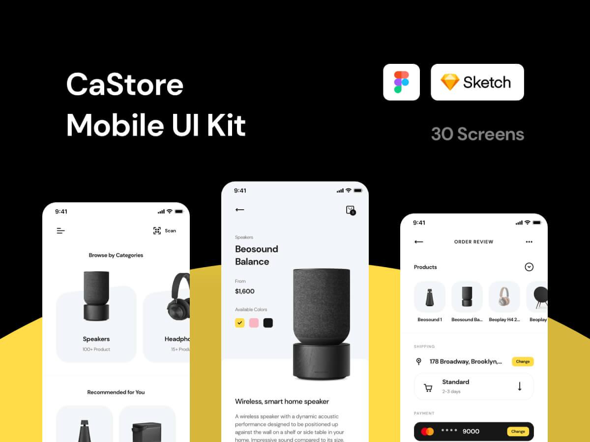 Store Mobile Sketch UI Kit