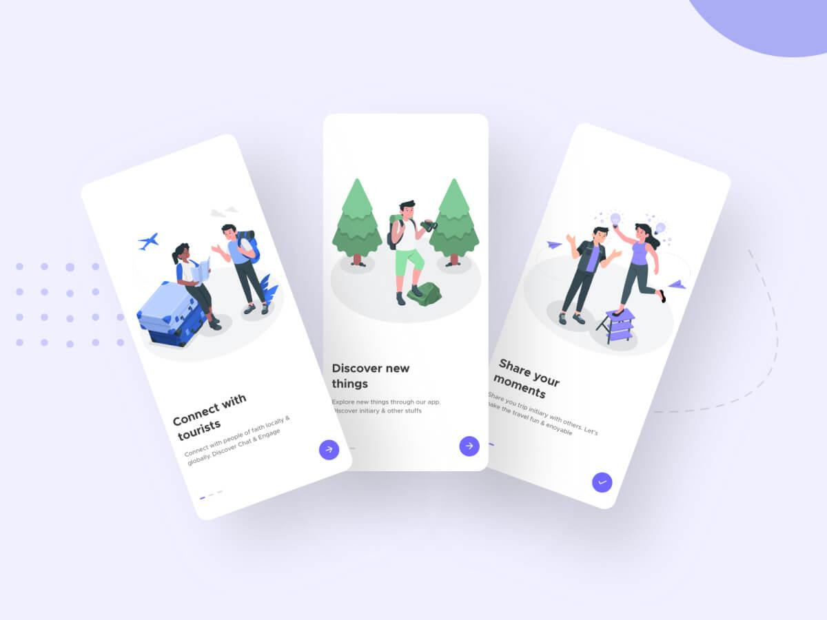 Travel App Onboarding - Sketch UI Kits