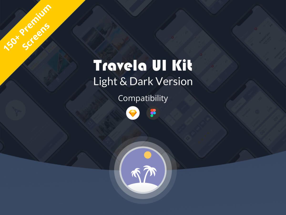 Travel App Sketch UI Kit