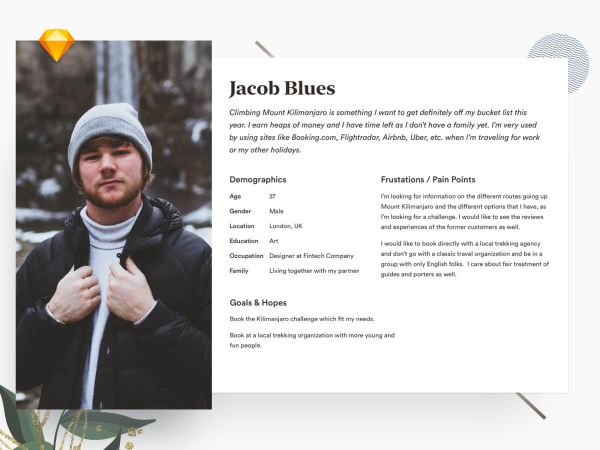 User Description Template - Sketch UI Kits