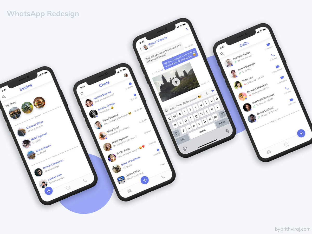 WhatsApp Mobile Redesign for Sketch