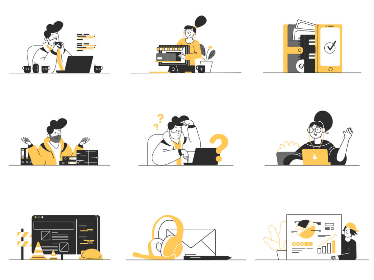 Whoooa! 20 Illustrations for Sketch